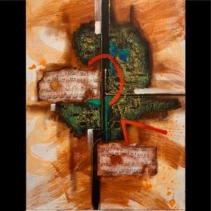Mixed Media Original Art on Stretched Canvas